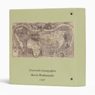1507 Martin Waldseemuller World Map Binder