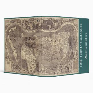 1507 Martin Waldseemuller World Map 3 Ring Binders