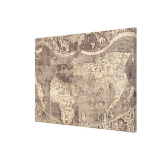 1507 Martin Waldseemuller World Map Gallery Wrapped Canvas