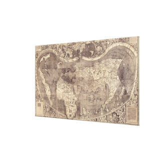 1507 Martin Waldseemuller World Map Canvas Print