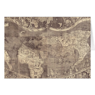1507 Martin Waldseemuller World Map Cards