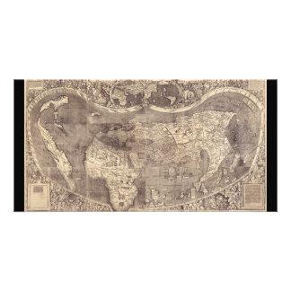 1507 Martin Waldseemuller World Map Card