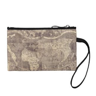 1507 Martin Waldseemuller World Map Change Purse