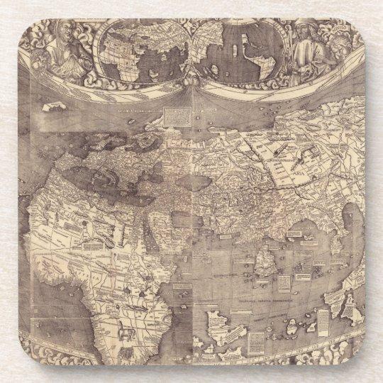 1507 Martin Waldseemuller World Map Coaster