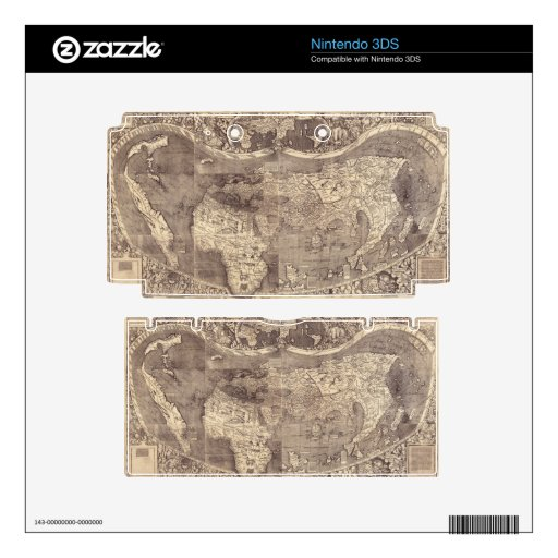 1507 Martin Waldseemuller World Map Decals For The 3DS