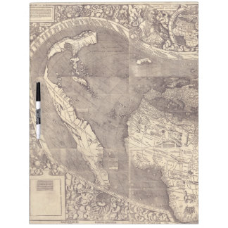 1507 Martin Waldseemuller World Map Dry-Erase Board