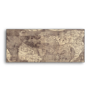 1507 Martin Waldseemuller World Map Envelope