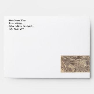 1507 Martin Waldseemuller World Map Envelopes