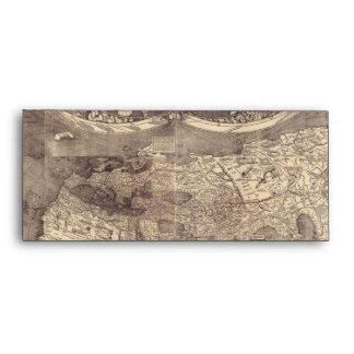 1507 Martin Waldseemuller World Map Envelope