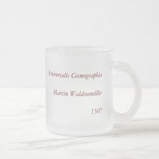 1507 Martin Waldseemuller World Map Frosted Glass Coffee Mug