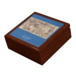 1507 Martin Waldseemuller World Map Jewelry Box