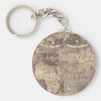 1507 Martin Waldseemuller World Map Keychain