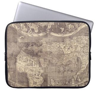 1507 Martin Waldseemuller World Map Laptop Sleeve