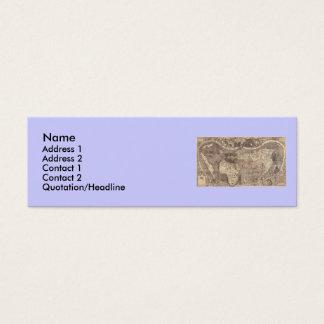 1507 Martin Waldseemuller World Map Mini Business Card