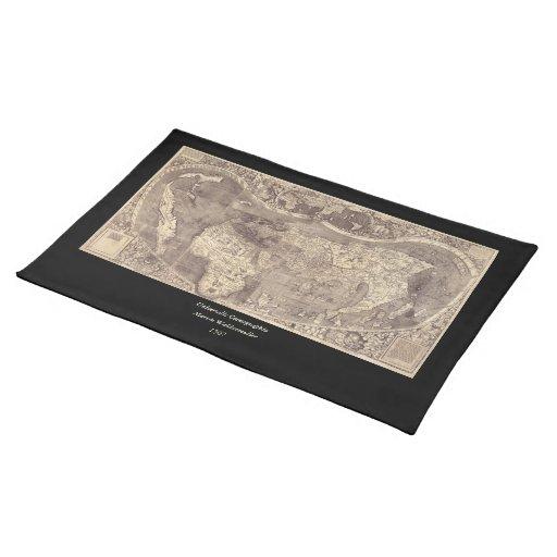 1507 Martin Waldseemuller World Map Place Mats
