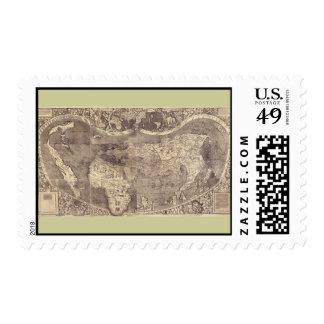 1507 Martin Waldseemuller World Map Stamp