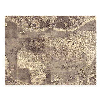1507 Martin Waldseemuller World Map Postcard