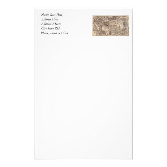 1507 Martin Waldseemuller World Map Stationery