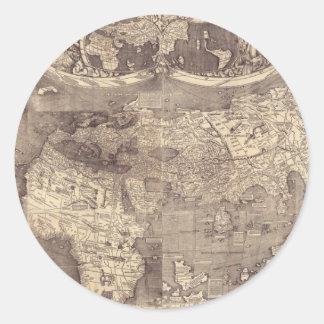 1507 Martin Waldseemuller World Map Stickers