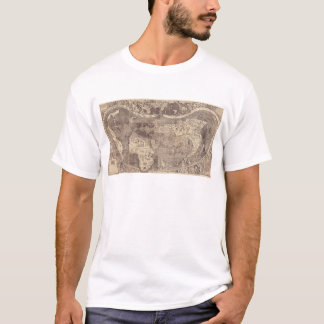 1507 Martin Waldseemuller World Map T-Shirt