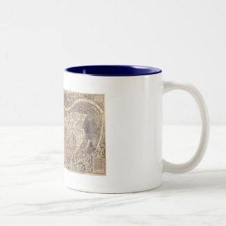 1507 Martin Waldseemuller World Map Two-Tone Coffee Mug