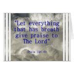 150:6 del salmo tarjetón