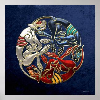[150] Celtic Sacred Art - Three Dogs Poster