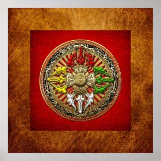[150] Mandala doble tibetana de Dorje Poster