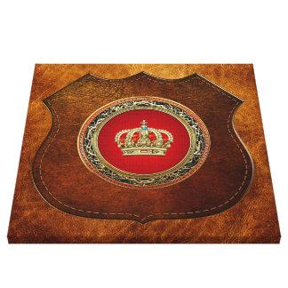 [150] Prince-Princess King-Queen Crown [Belg.Gold] Canvas Print