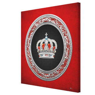 [150] Prince-Princess King-Queen Crown [Silver] Canvas Print