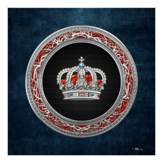 [150] Prince-Princess King-Queen Crown [Silver] Poster