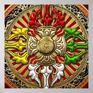 [150] Tibetan Double Dorje Mandala Poster