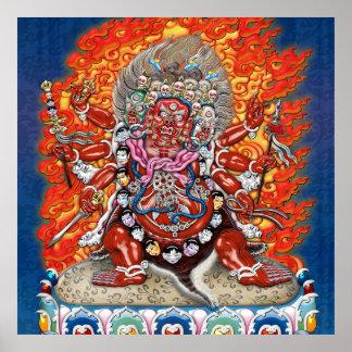 [150] Tibetan Thangka  - Wrathful Deity Hayagriva Poster