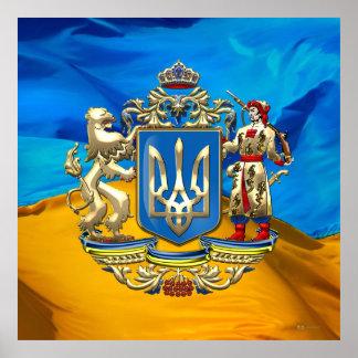 [150] Ucrania: Mayor escudo de armas propuesto Impresiones