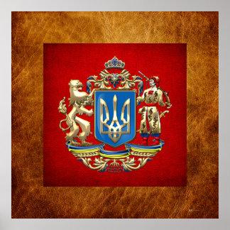 [150] Ucrania: Mayor escudo de armas propuesto Poster