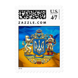[150] Ukraine: Proposed Greater Coat of Arms Postage