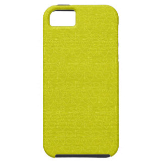 150 YELLOW SKETCHY HEARTS BACKGROUNDS TEMPLATE TEX iPhone 5 CASE