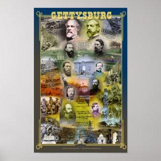 150o poster del aniversario de Gettysburg