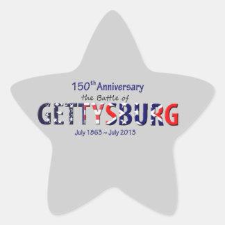 150th anniversary of the Battle of Gettysburg Star Sticker