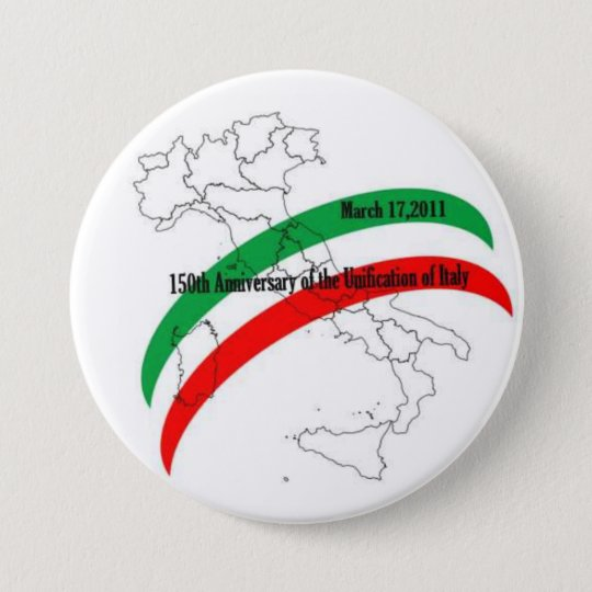 150th Anniversary of the Unification of Italy Button