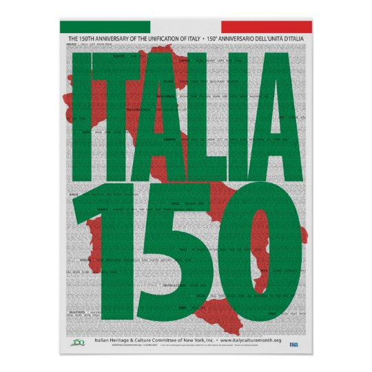 150th Anniversary Unification of Italy Poster