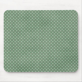 15123 GREEN MINT CHECKERED SQUARES PATTERN BACKGRO MOUSE PAD