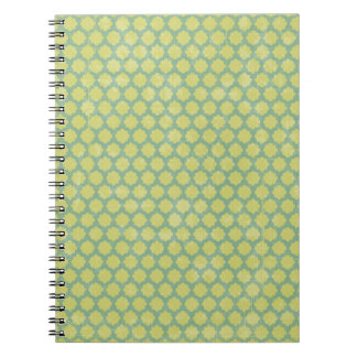 15123 GREEN MINT CHECKERED SQUARES PATTERN BACKGRO NOTEBOOKS