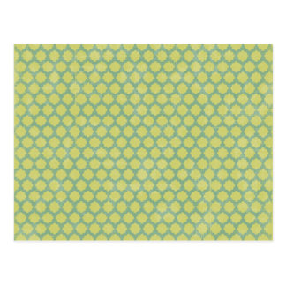 15123 GREEN MINT CHECKERED SQUARES PATTERN BACKGRO POSTCARD