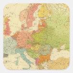 1516 etnográficos europeos calcomanía cuadrada