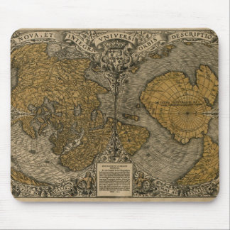 1531 Vintage World Map at the Poles Mousepad
