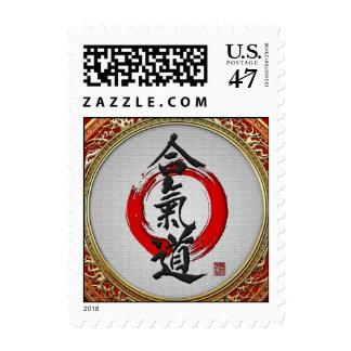 [153] Caligrafía japonesa - Aikido Timbres Postales
