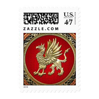 [153] Sacred Gold Griffin Postage