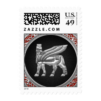 [153] Winged Bull [Silver] [3D] Stamps