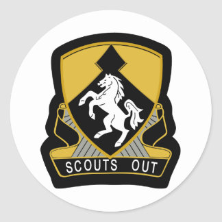 153d Cavalry Scout-Insignia Color patch Classic Round Sticker